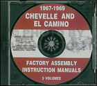 1967 1968 1969 Chevelle Assembly Manual CD El Camino Malibu SS Chevy Facotry
