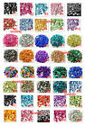 USA  30 Pieces Mixed Shapes Acrylic Gems 25 Colors  Cut Back or Flat Back