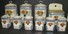 ULTRA FINE 10 PC LUSTERWARE CANNISTER SET BY VICTORIA CHINA-CZECH-MINT CONDITION