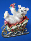 Fitz and Floyd Enchanted Holiday Salt and Pepper shakers - Excellent