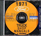 1971 Ford Truck Shop Manual Set CD Pickup Van Bronco F100 F250 F350 E100 E300 71