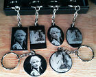 Personalised Photo Text Engraved Stainless Steel Keyring Pendant Birthday Gift