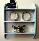 Shelf Storage Unit Solid Wood Traditional Wooden Wall Shelf Hand painted