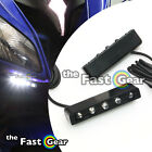 LED White Light Kit Fairing Front R / L Right Side For Universal Motorcycles 2