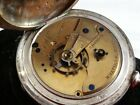 VINTAGE 18S WALTHAM BROADWAY 4OZ COIN SILVER POCKET WATCH FROM 1883