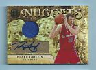 BLAKE GRIFFIN 2010 11 PANINI GOLD STANDARD GOLD NUGGETS JERSEY AUTOGRAPH AUTO 5