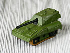 Vintage 1976 England Matchbox Rolamatics No70 SP GUN Military Army Diecast Tank