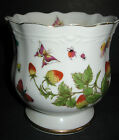 ARDALT HAND PAINTED BUTTERFLY STRAWBERRIES LENWILE CHINA VASE MADE IN JAPAN