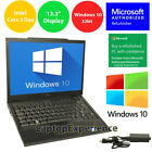 DELL LAPTOP LATITUDE CORE WINDOWS 10 32bit WIN DVD WiFi NOTEBOOK PC 133 HD 3GB
