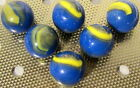 LOT W/ 6 MARBLE KING  7/8 INCH CUB SCOUT MARBLES