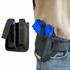 New Barsony Ambidextrous Pancake Holster + Dbl Mag Pouch Ruger Compact 9mm 40 45