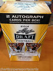2014 Leaf Draft Football Blaster Box 20 Packs 2 Autos Factory Sealed