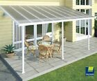 Feria Patio 13' x 14' Polycarbonate White/Clear Awning by Poly-Tex #HG9214