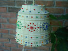 Vintage..Colorful...Lawnware..Trailer / Camping / Patio..Lg...Beaded Lamp- U.S.A