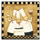 Bistro Chefs Art Poster Print by Dan Dipaolo, 13x13