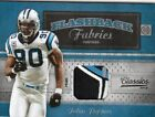 2010 (PANTHERS) Classics Flashback Fabrics Jerseys Prime #16 Julius Peppers Jsy