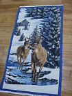 Northwoods Cabin Winter Stillness Whitetail Deer cotton quilters Fabric Panel