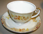 Vintage Meito Hand Painted China Cup & Saucer Set Yellow & Pink Flowers