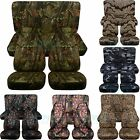 Jeep Wrangler YJ TJ JK JL 1987 2019 Camouflage Seat Covers Front