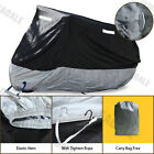 XXL Breathable Waterproof Motorcycle Cover Black-Outside Silver-Inside GM3YB