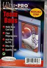 300 Ultra Pro Team Bags Resealable 3 packs of 100 New in the pack 81130