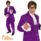 60s Gigolo Costume Groovy Powers Mens Fancy Dress Purple Austin Suit Outfit New