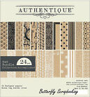Accomplished Collection 6x6 Scrapbooking Paper Crafting Pad 24 S Authentique New