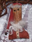 PATTERN PRIMITIVE SANTA ORNIE DOLL!!   EASY TO MAKE!!  MAILED PATTERN!
