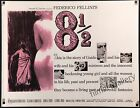 8 1 2 1963 unfolded US 22x28 Half Sheet Federico Fellini filmartgallery