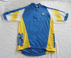 Vintage Nike Cycling Jersey S Small Blue Yellow White 1 4 zip bike bicycle shirt