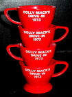 Vintage DOLLY MACK'S DRIVE-IN Movie 1972 Snow Cone Cup Advertising Americana