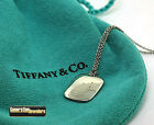 Tiffany & Co. by Elsa Peretti Rectangle Pendant + Chain PT 950 Platinum WOW!!