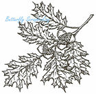 Oak Cluster With Acorns Wood Mounted Rubber Stamp NORTHWOODS NEW M3707