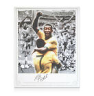 Pele hand signed photo - Montage personally signed