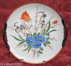 Noritake Porcelain 2 Handled Floral Round Plate Cherry Blossom Makers Mark