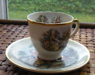 Vintage TAYLOR-SMITH-TAYLOR China DEMITASSE Cup and Saucer COLONIAL COUPLE
