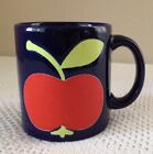 WAECHTERSBACH Navy Cobalt Blue Apple Coffee Mug Cup W Germany CUTE!!