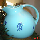 vintage CRONIN BALL JUG PITCHER china BLUE TULIP water Pitcher