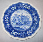 1890 Spode Copeland Plate Tower Pattern Wild Duck #1 Blue England Game Bird