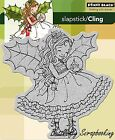 Fairy Holly Christmas Cling Style Unmounted Rubber Stamp PENNY BLACK 40-173 New