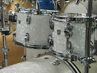 Ludwig Classic Maple White Marine Pearl 22/10/12/16 Drum Set Atlas Bracket Legs