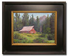 Art Paintings Original Oil FRAMED Barn Landscape Impressionism Signed by Artist