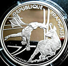 France 100 Francs 1990 Albertville Olympics Silver, Free style skier