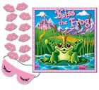 PRINCESS Birthday BACHELORETTE Party Game PIN THE KISS ON THE FROG for 12 Guests
