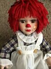 Raggedy Ann Porcelain Sitting Doll Phoenix Custom Promotions Inc Collectible