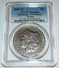 1890-CC Tailbar PCGS Genuine Morgan Silver Dollar with VF Details