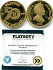 ONLY ONE ON EBAY!RARE PLAYBOY 2003 COOK ISLANDS DOLLAR GOLD PROOF 50 ANNIVERSARY