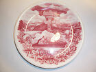 Johnson Brothers Souvenir Plate Canada Banff Lake Louise Red Transferware