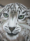 SNOW LEOPARD Pastel by Joanni 1973 18.75 x 22 SIGNED ORIGINAL