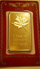 1 oz Canadian Maple Leaf Gold Shroud Bullion Collector Bar in Assayer's Card